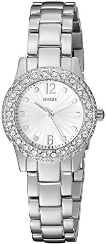 GUESS U0889L1 Silver Tone Crystal Accented Stainless