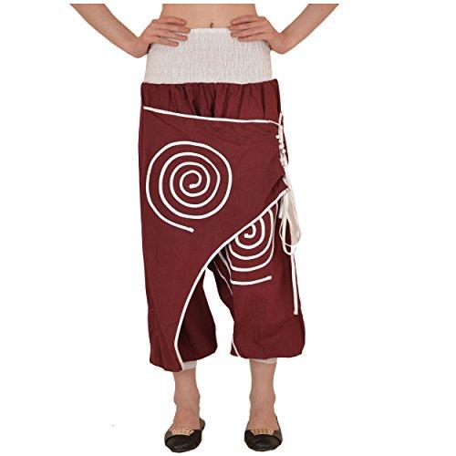 Skirts 'N Scarves Women's Cotton Afghani Yoga/Harem Pant (Maroon) by Skirts 'N Scarves
