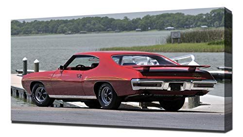 Lilarama USA 1970 Pontiac GTO Judge Hardtop Coupe V4 - Canvas Art Print - Wall Art - Canvas - Gto Judge Hardtop Pontiac