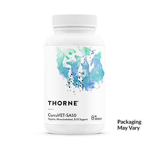 Thorne Research Veterinary - CurcuVET-SA50 Soy Free - Hepatic, Muscoloskeletal, GI Support - 90 Capsules