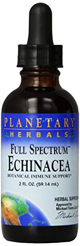 Planetary Herbals Echinacea Full Spectrum Fresh Herb Extract Liquid, Botanical Immune Support, 2 ounces (Pack of 2)