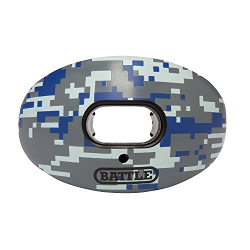 Football Pacifier (Battle Limited-Edition Oxygen Lip Protector Mouthguard, Blue Camo, Adult (10 years & up))