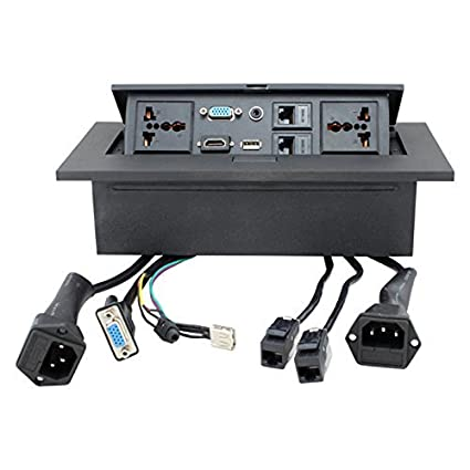 Amazoncom Conference Table Connectivity Box Data Port Hidden Power - Conference table power box