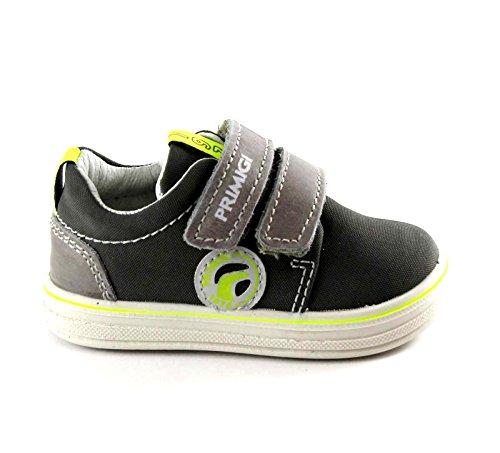 PRIMIGI 75381 zapatos de la zapatilla de deporte baja gris lágrimas verdes del bebé Grigio
