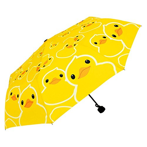 MyLifeUNIT Bath Rubber Duck Automatic Folding Compact Umbrella Duck Umbrella