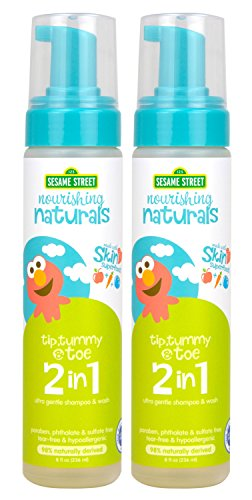 Sesame Street Nourishing Naturals 2-in-1 wash 8 oz 2 Pack by Sesame Street