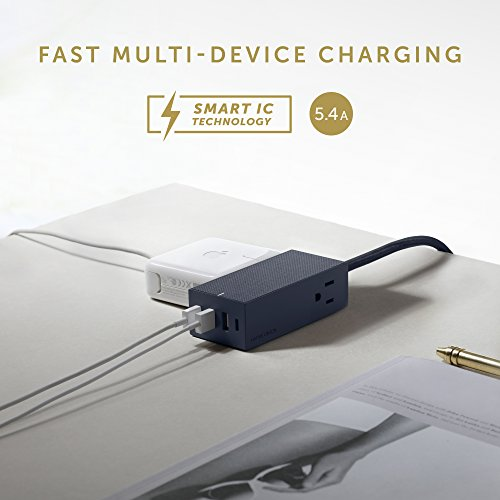 Native Union SMART HUB BRIDGE - 8ft Power Extension with 4 x USB Ports (Including 1 x USB-C Port) with 2 x AC Outlets - Fast Charging for iPhone, iPad, Smartphones, Computers and Tablets (Marine) by Native Union (Image #4)