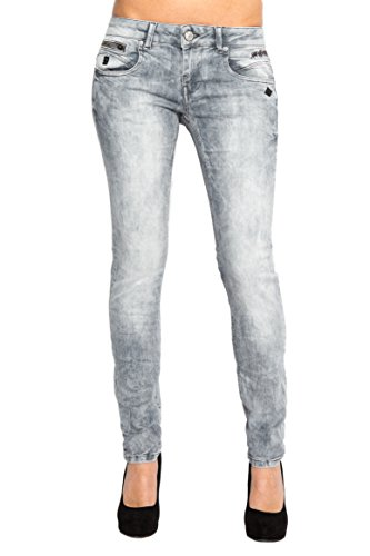 Lost in Paradise - Jeans - Slim - Femme gris gris