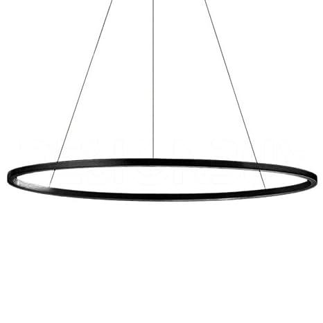 Nemo Lighting Ellisse Minor Dimmer LED lampada a sospensione nera con luce  verso l\u0027alto