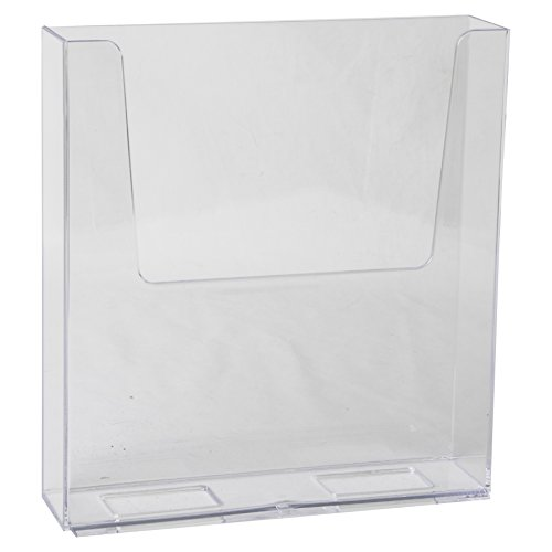 Clear-Ad - LHF-S160 - Acrylic Free Standing Flyer Holder 8.5 x 11 (Pack of 16)