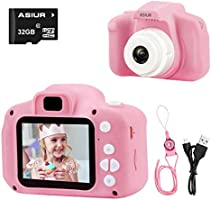 """ASIUR Camera for Kids,1080P FHD Digital Video Children Camcorder - 2.0"""" IPS Screen Rechargable Toy Cameras Recorder for Girls"""