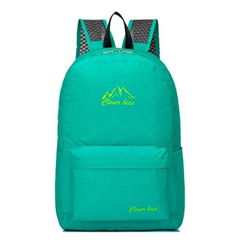 Wmshpeds Mochila plegable ultra-ligero deportes al aire libre bolsa de luz bolsa de hombro bolsa de piel bolsa plegable A