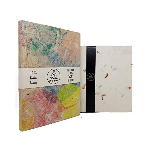 Eco-Friendly Handmade Lokta Paper Writing Journal Notebook - Bodhi Leaf