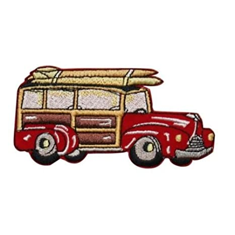 ID 1933 Surf Wagon parche Beach Cruiser coche bordado hierro ...