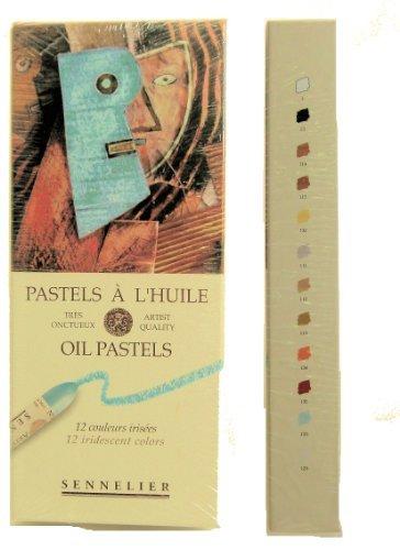 Sennelier Artists Oil Pastels - Set of 12 x Iridescent by Sennelier Global Art Supplies