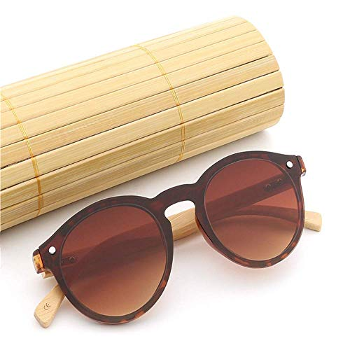 Riz Cadre jointes Rond ZhongYi Lunettes de Bambou Ongles E Jambe Soleil AEBgx7qn