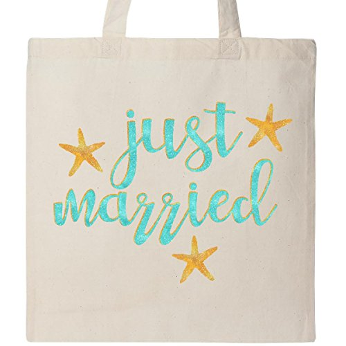 Inktastic Starfish Just Married Tote Bag (Just Married Tote)