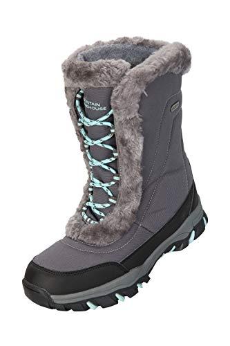 Doposci per Ideali Mountain da Invernali Neve Caldi Donna Grigio Impermeabili e Stivali Ohio Warehouse e zzqZxOvw