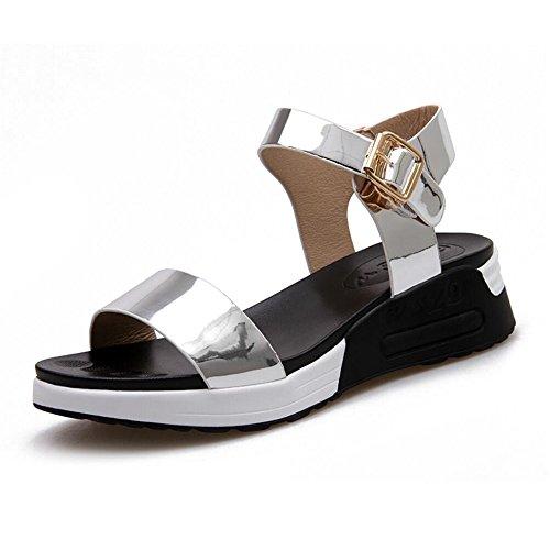 Zapatos Con Hembra Sandalias De Planas Silver Mujer Moda Hebilla Los xqwIYpt1