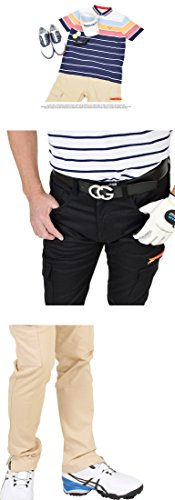 【コモンゴルフ】 COMON GOLF メンズ 美脚 飾りZIP付き カーゴスタイル ストレッチ ゴルフ パンツ CG-180202