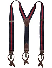 5a2f3a91ec4 Men s Clips Suspenders - For Dress Tuxedo Pants with Y Back and Adjustable  Straps. Tommy Hilfiger