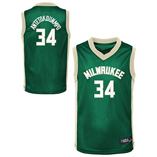 Outerstuff NBA Toddler Team Color Player Name & Number Replica Road Jersey (2T, Giannis Antetokounmpo Milwuakee Bucks) (Milwaukee Bucks Best Players)