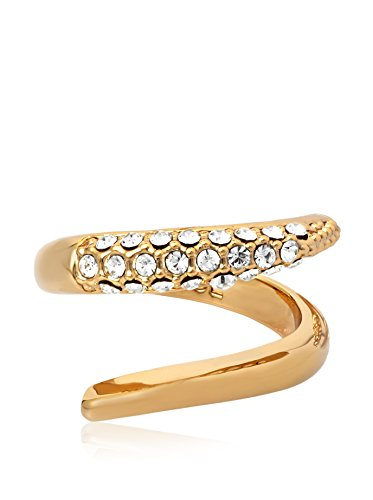Rachel Zoe Crystal Pave Gold Crossover Ring ()