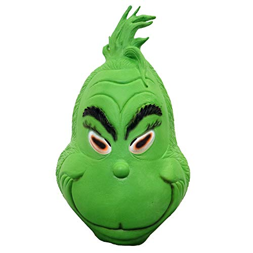 HAOSUN Grinch Mask Christmas Costume Latex Mask