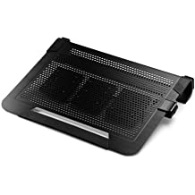 Cooler Master NotePal U3 PLUS - Gaming Laptop Cooling Pad with 3 Moveable High Performance Fans (Black)
