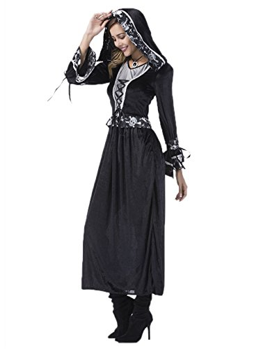 Zombie Bride Costume - Women Deluxe Lace Ghost Bride Halloween Costume for Adult (M)