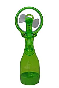 O2Cool Deluxe Misting Fan, Transparent Green