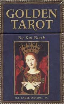 Tarot Cards Artwork Golden Tarot deck and book by Kat Black