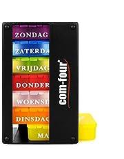 COM-FOUR® medicatiedispenser in het NEDERLANDS - medicatiebox voor 7 dagen - elk 1 vak - pillendoosje - tabletdoos - weekdispenser voor bewaring [NEDERLANDS]