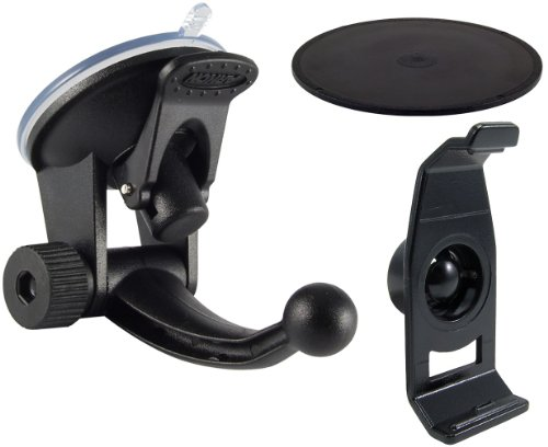 Arkon Garmin nüvi 200 Series GPSGN215 Replacement Cradle and Windshield Mount with Dash Disk (Black)