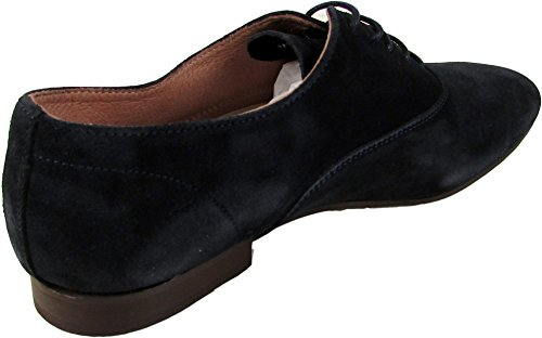 Base London Sax piel Formal de piel Para Hombre Derby Shoe Lace Up Zapatos de funda Azul