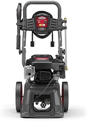 Briggs Stratton Gas Pressure Washer 3100 PSI 2.5 GPM with Quiet Sense Technology and 30 Hose, 4 Nozzles Detergent Tank