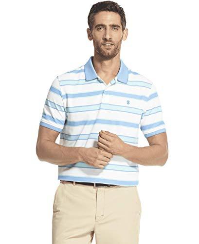 IZOD Men's Slim Fit Advantage Performance Short Sleeve Stripe Polo, Florida Keys S2019, Medium ()