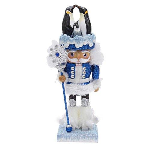 Kurt Adler Hollywood Penguin Nutcracker, (Blue Christmas Hats)