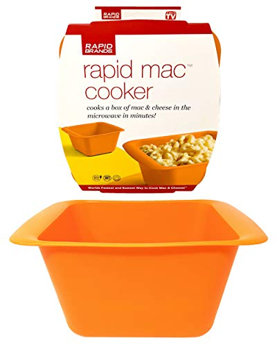 Rapid Mac Cooker | Microwave Macaroni & Cheese in 5 Minutes | Perfect for Dorm, Small Kitchen or Office | Dishwasher-Safe, Microwaveable, BPA-Free…