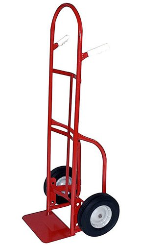 Milwaukee Hand Trucks 40134 Twin Pin Handle Truck with 10-Inch Puncture Proof Tires and Steel Hub (Puncture Pin)