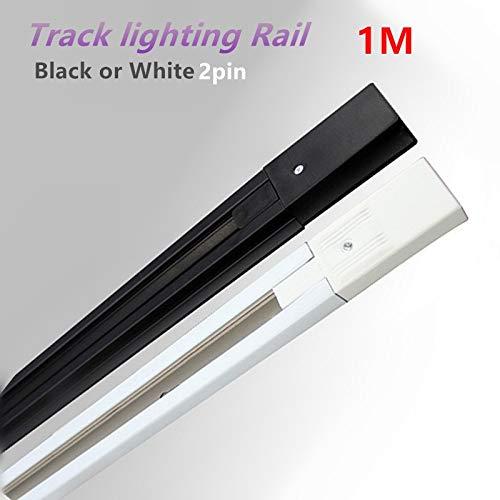 1Meter 0.5M LED track light rail lighting fixture rail Universal rails Connector System white/black 2 wire 100% copper 10pcs/lot - (Length: 1 Meter, Color: WHITE)
