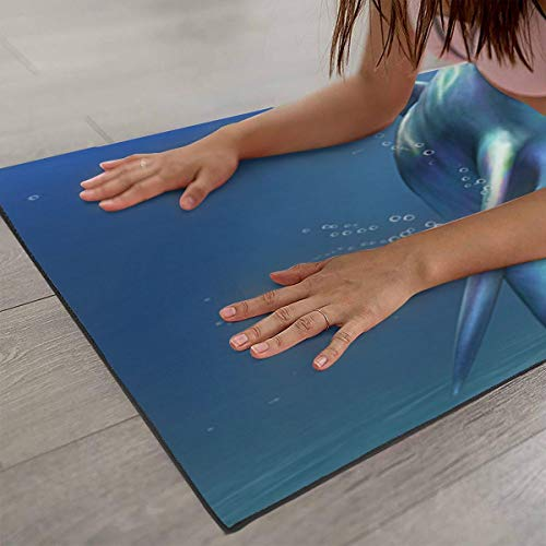 Amazon.com : CCRIM Two Dolphins Print Crystal Velvet Yoga ...