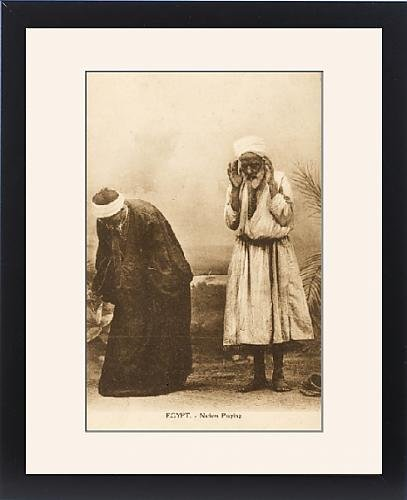 Framed Print of Egypt - Old Egyptian men at prayer by Prints Prints Prints