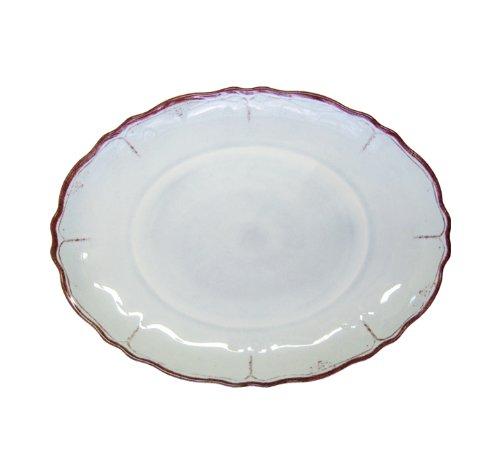 Le Cadeaux Melamine Rustica Ice Blue Coupe Oval Platter
