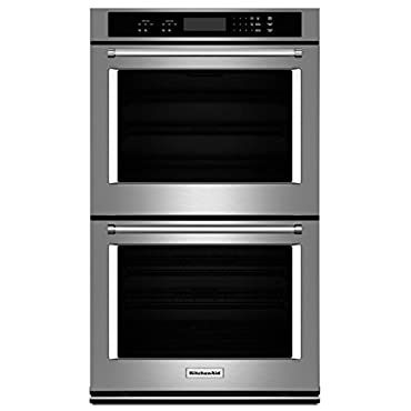 KITCHENAID KODT100ESS 30 Double Electric Wall Oven with 10.0 cu. ft. Combined Oven Capacity, Even-Heat Thermal Bake/Broil, Glass Touch Display, Halogen Lights and Self Clean Cycle