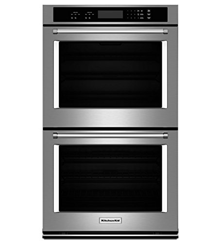 "KitchenAid KODT107ESS 27"" Double Electric Wall Oven with ..."