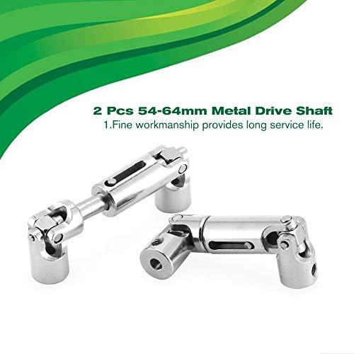 Peanutaod 2 Piezas T-Power 54 64 mm Metal Eje de accionamiento Piezas actualizaci/ón para JJRC Q65 1//10 RC Crawler Auto RC Coches Parte Accesorios