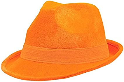 Orange Amscan Velour Fedora Party Accessory