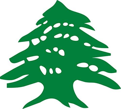 Quality Prints - Laminated 26x24 Vibrant Durable Photo Poster - Green Tree Flag Cedar