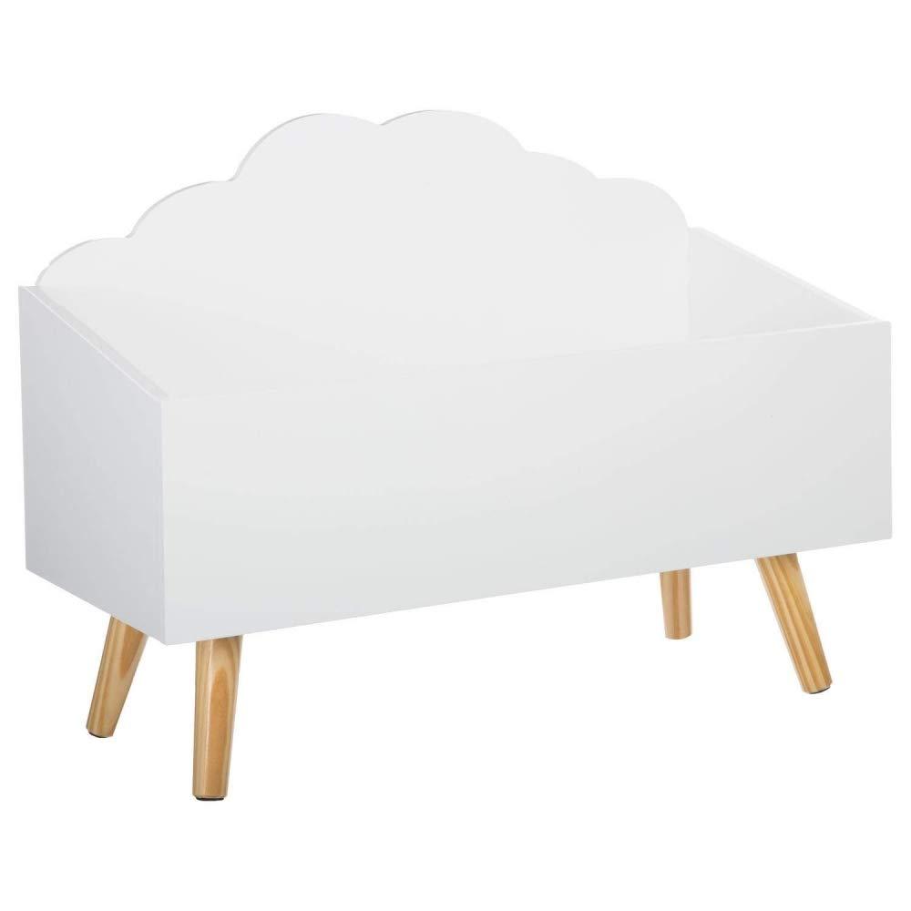 Baule per giocattoli - A forma di nuvola - Colore: BIANCO